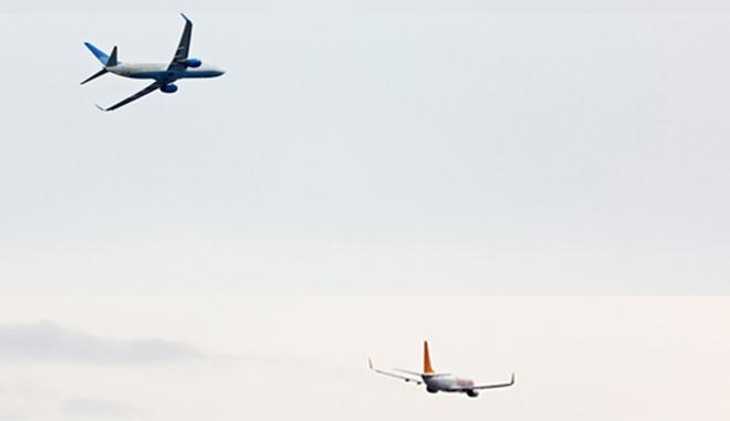 Pegasus uçağı facianın eşiğinden döndü!
