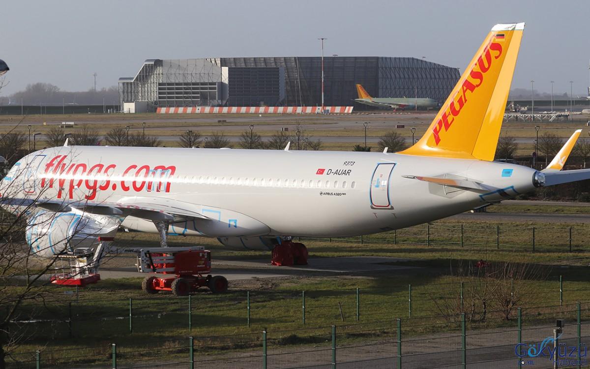 Pegasus'un Yeni A320neo uçakları Hamburg Fabrikası'nda