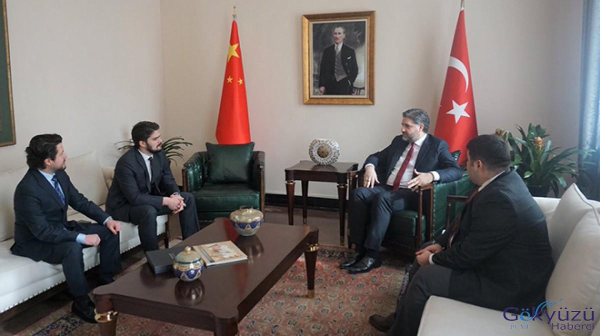 Pekin Büyükelçisi THY müdürlerini ağırladı
