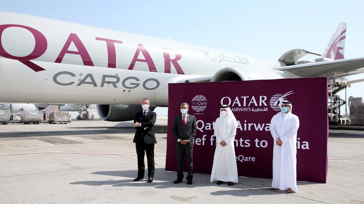 Qatar Airways Cargo Hindistan'a Tıbbi Yardım Taşıyor