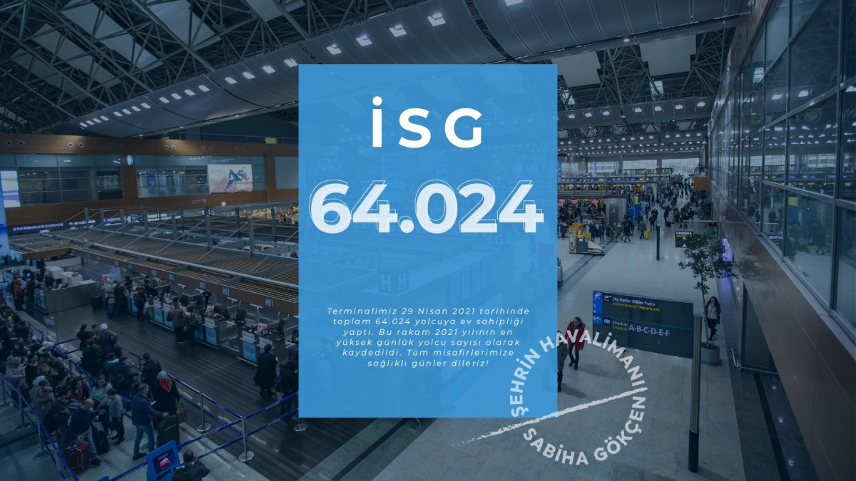 #Sabiha Gökçen Havalimanı yolcu rekoru kırıldı!