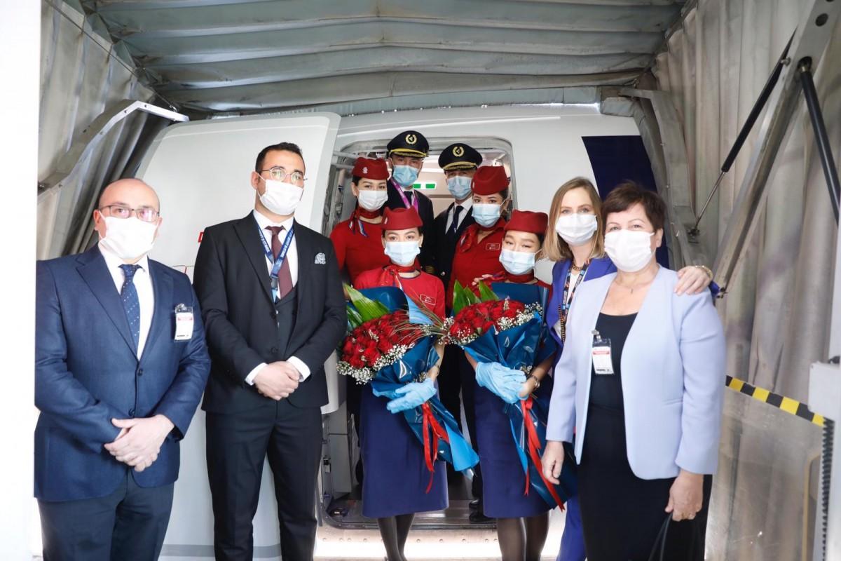#Sabiha Gökçen'den Kazakistan uçuşları başladı
