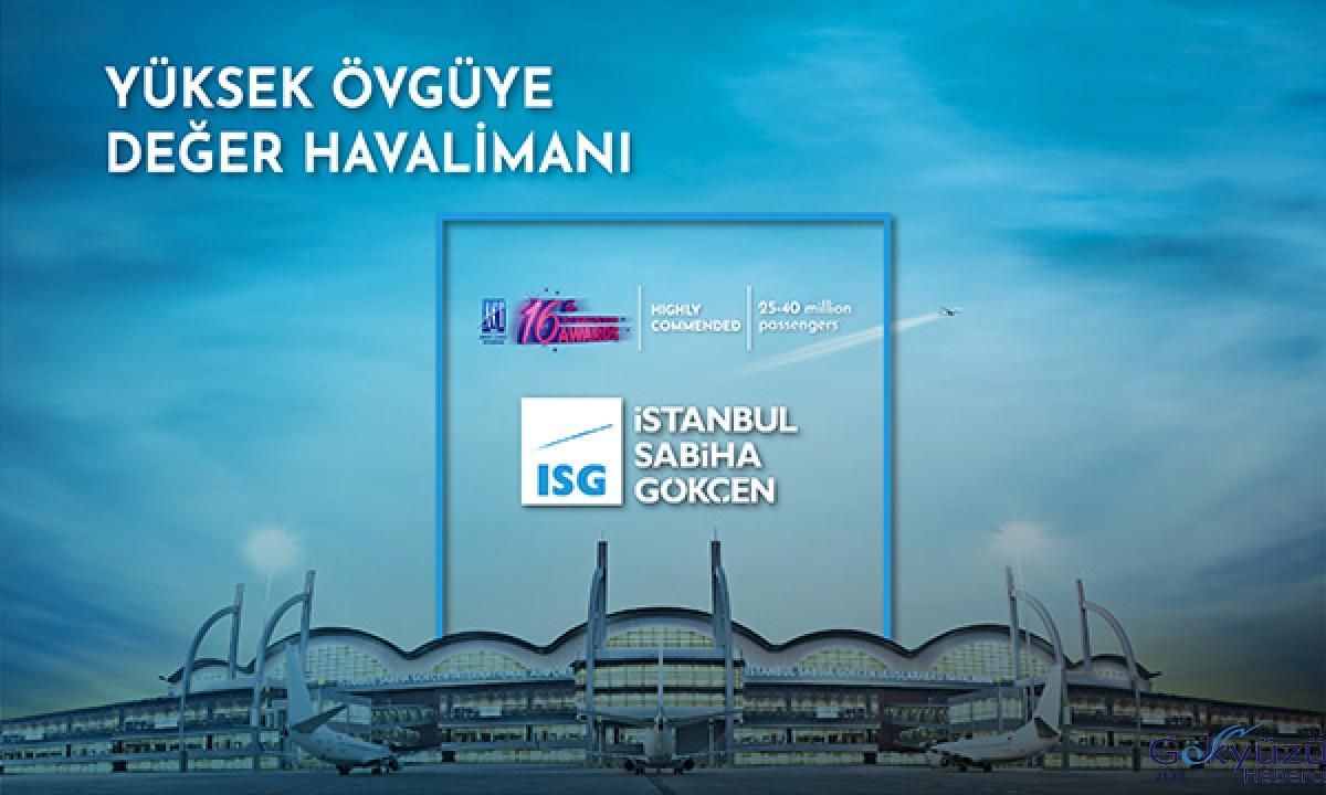 Sabiha Gökçen'e 'Yüksek Övgüye Değer Havalimanı' ödülü