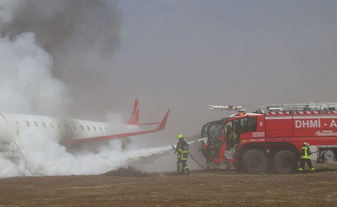 Şanlıurfa'da Uçak İniş Sırasında Pistten Çıktı