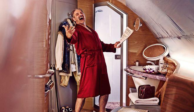 Son Trend Uçakta Duş Almak