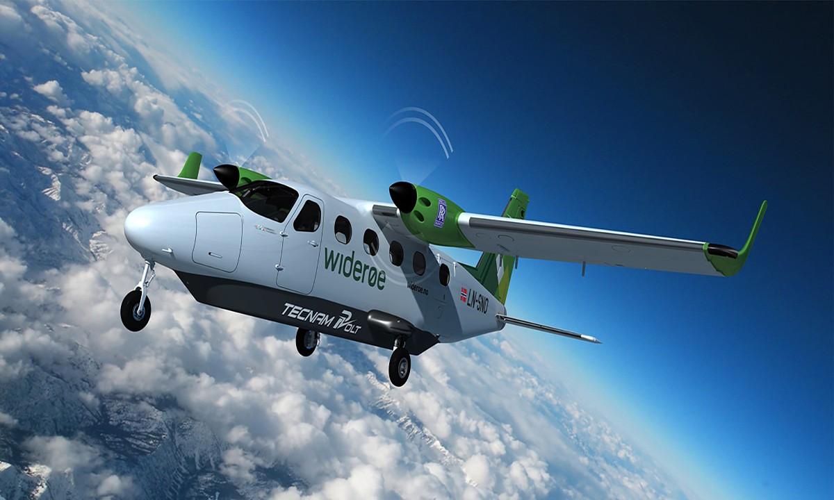 Tamamen elektrikli P-Volt uçağı