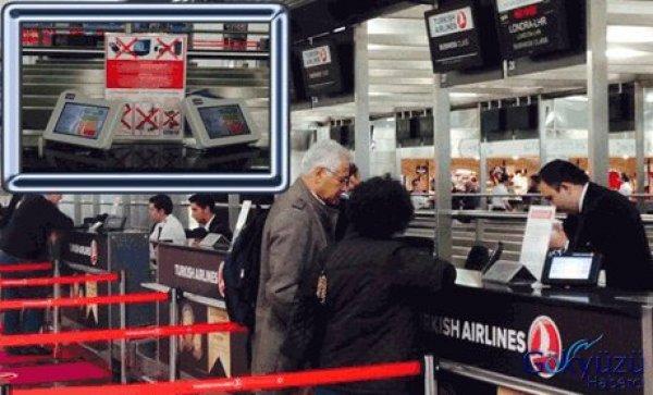 TGS  Check-in bankolarına anketör makineleri yerleştirdi.