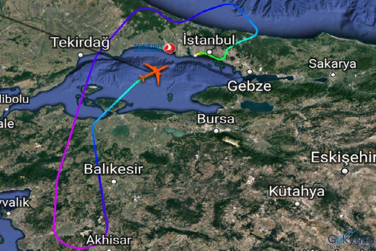 THY Airbus A330 tipi yolcu uçağı İstanbul'a geri döndü