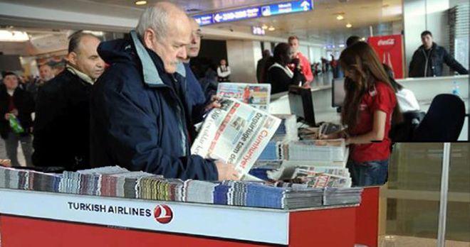 THY Cumhuriyet Gazetesi dağıtmayacak!