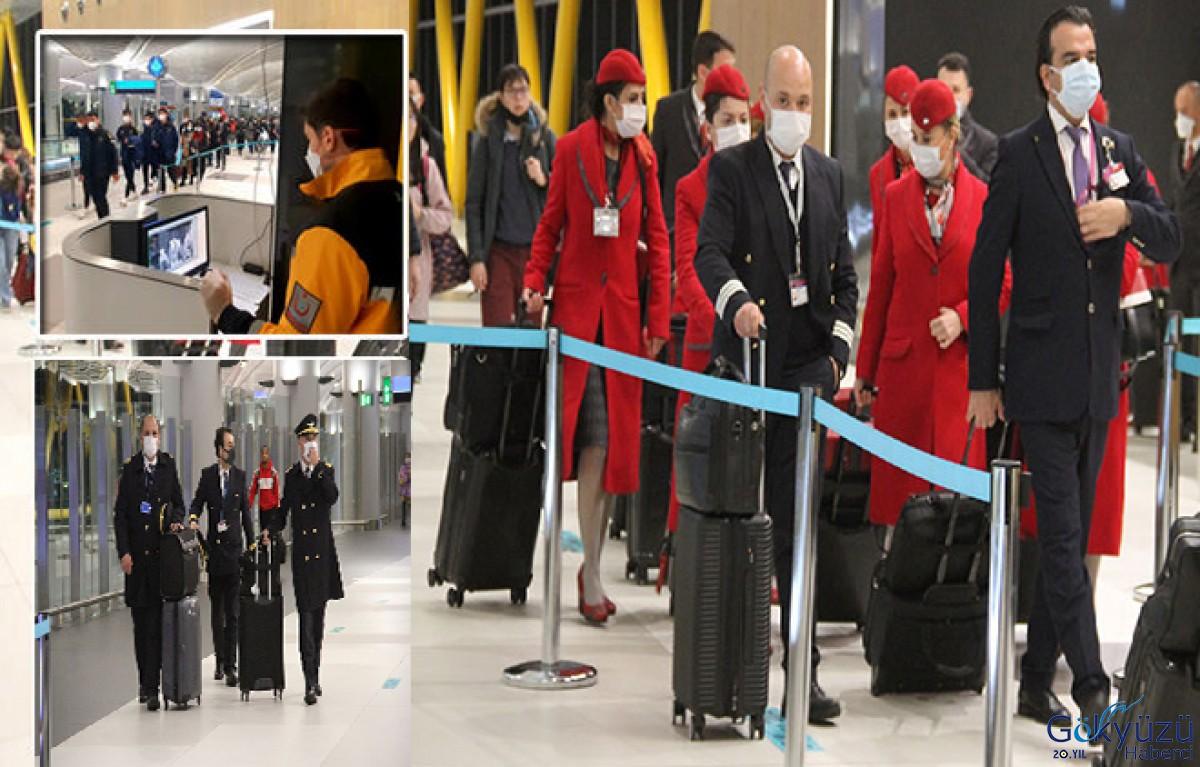 THY'de Hostes ve pilotlar maske takmaya başladı!