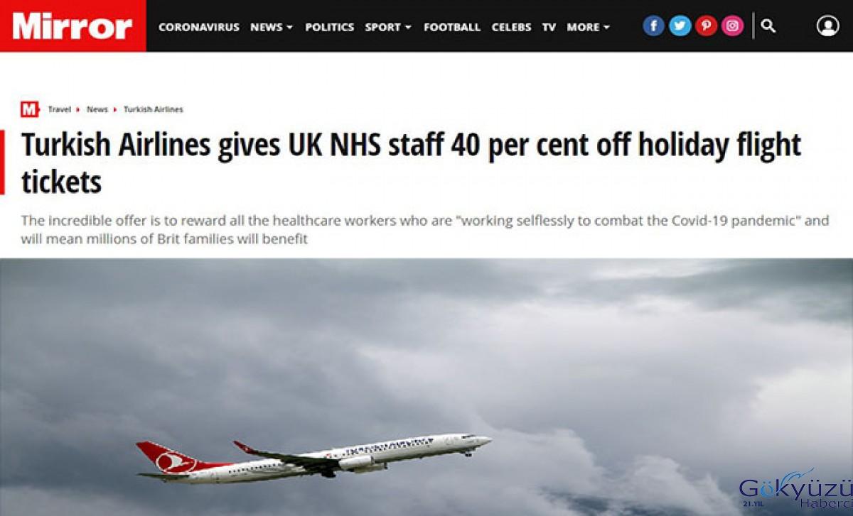 THY'den İngiliz sağlık çalışanlarına yüzde 40 indirim jesti