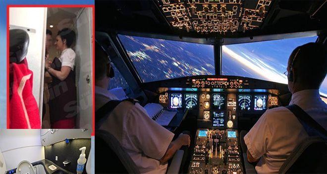 THY pilotu tuvalette yolcu var inemiyoruz!