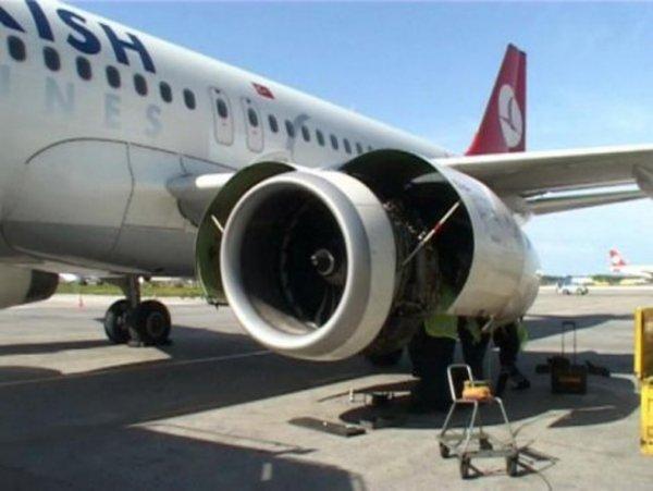 THY Uçağının Motoruna Kuş Çarptı