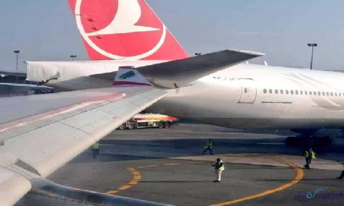 THY ve MEA uçağı apronda çarpıştı