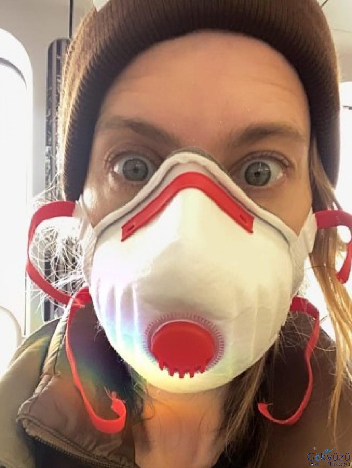 Tuba Ünsal'ın Uçak için bir maske önerdiler