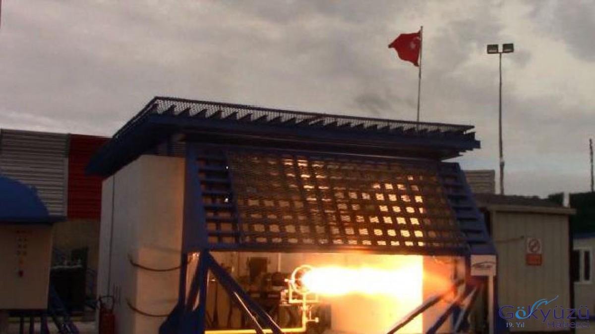 Türkiye'nin uzay roketi motoru ilk kez görüntülendi