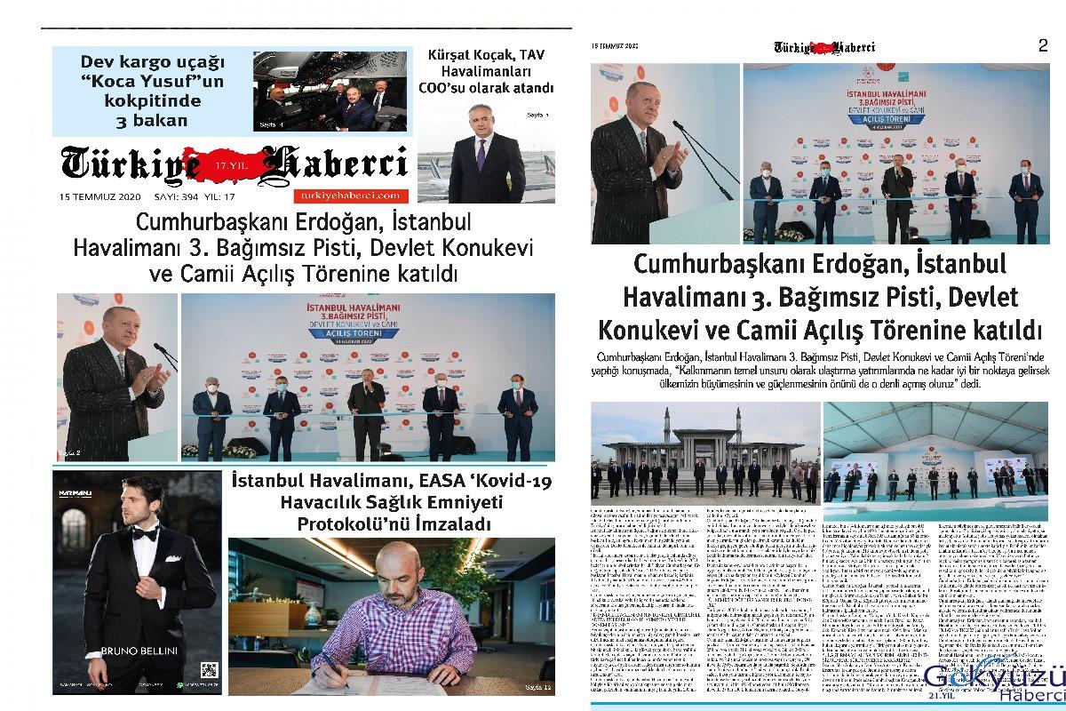 TürkiyeHaberci Gazetesi Temmuz Sayısı Çıktı!