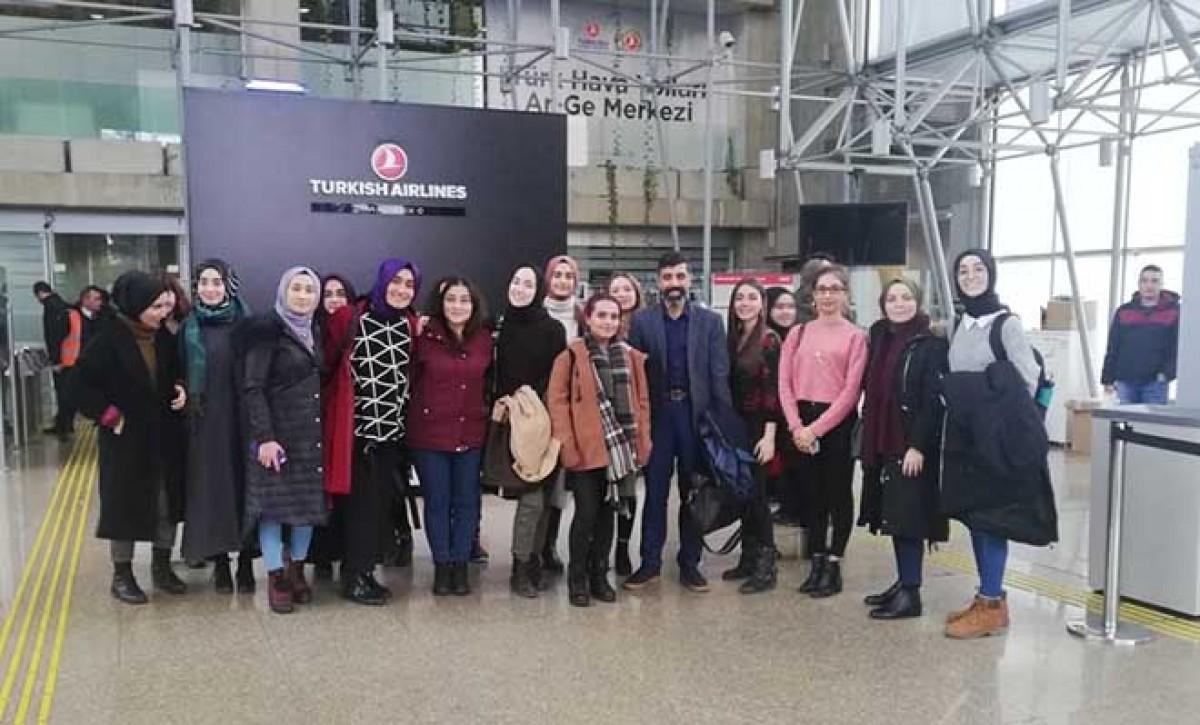 Üniversite öğrencileri THY Teknik'i ziyaret etti