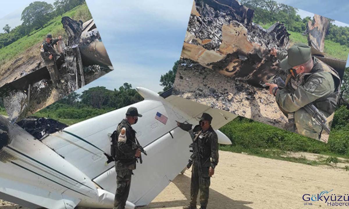 Uyuşturucu taşıyan ABD uçağı vuruldu
