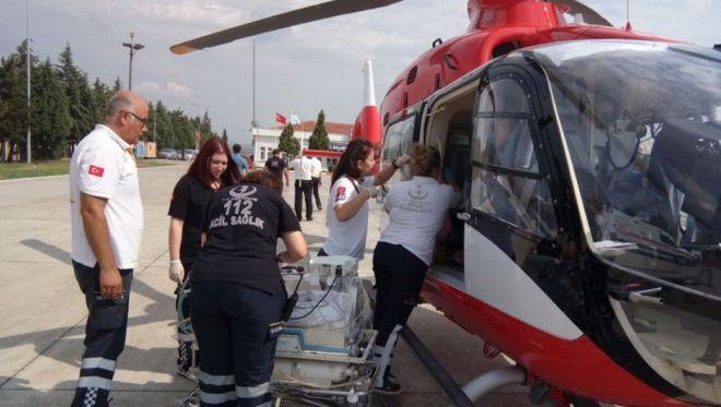 Yeni Doğan Bebeğe Helikopterli Destek