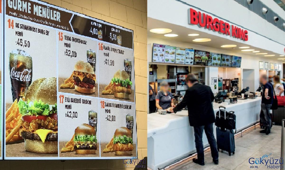 Yolcuların tercih İstanbul havalimanı'nda Burger King