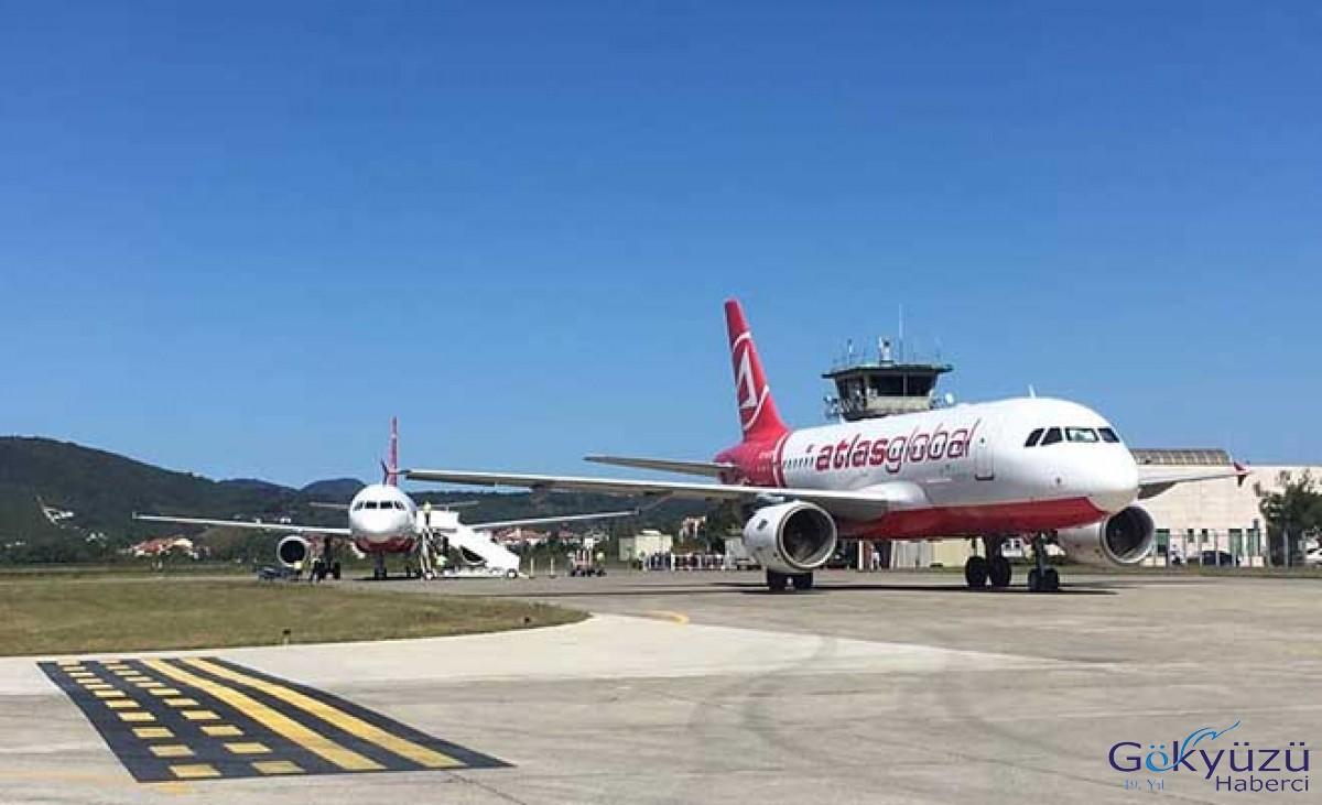 Zonguldak'ta AtlasGlobal uçağı Arızalandı!